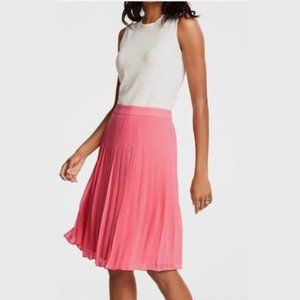 Ann Taylor Pink Pleated Skirt Size 4P